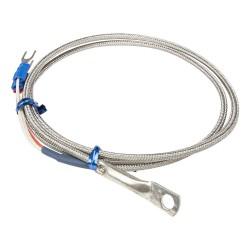 FTARR02 PT100 type 6mm inner diameter cold pressing nose 1m metal screening cable RTD temperature sensor