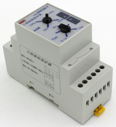 DHC2X-T phase failure phase sequence protection relay