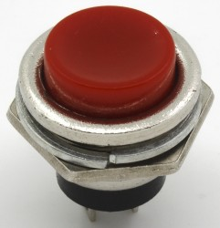 16mm DS series push button with φ16 mm perforate dimensions