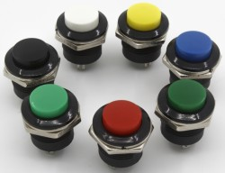 16mm R series push button with φ16 mm perforate dimensions