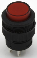 R16-503 red push button with ligth